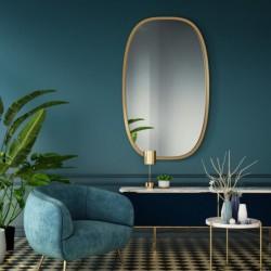 DOLIO ZŁOTE owalne lustro w skandynawskim stylu