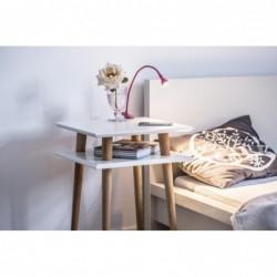 SQUARE wysoki stolik kawowy w stylu vintage polski design
