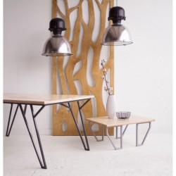LIT STOLIK KAWOWY z blatem ze sklejki styl industrialny
