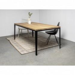 ALEX stół z drewnianym blatem styl loftowy