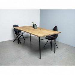 MARTIN stół z blatem dębowym styl loftowy