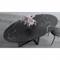 WILLIAM stół owalny z blatem marmurowym
