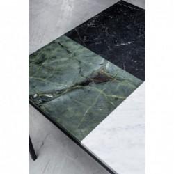 MARGARET kwadratowy stół z blatem marmurowym