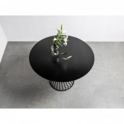 OLIVER okrągły stół z blatem dębowym styl loftowy
