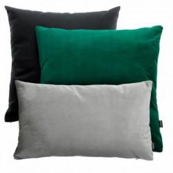 VELVET zielono-czarno-szary zestaw poduszek dekoracyjnych