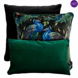 PEACOCK zielono-czarny zestaw poduszek dekoracyjnych