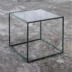 BRICK SZKŁO MAŁY minimalistyczny stolik kawowy styl loftowy