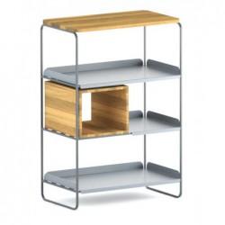 MODULO REGAŁ 67x100 minimalistyczny regał stalowo-drewniany polski design