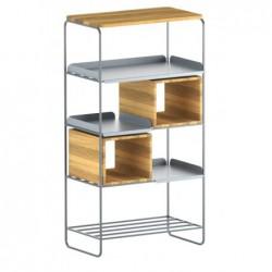 MODULO REGAŁ 67x129 minimalistyczny regał stalowo-drewniany polski design