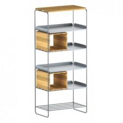 MODULO REGAŁ 67x158 minimalistyczny regał stalowo-drewniany polski design