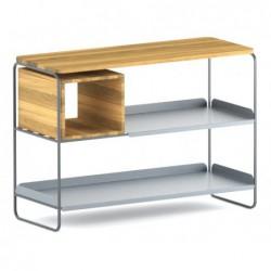 MODULO REGAŁ 99x71 minimalistyczny regał stalowo-drewniany polski design