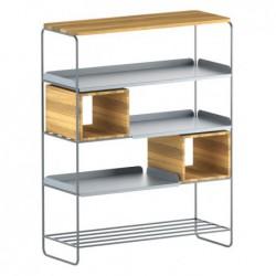 MODULO REGAŁ 99x129 minimalistyczny regał stalowo-drewniany polski design