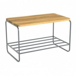 MODULO ŁAWKA 67 minimalistyczna ławka stalowo-drewniana polski design