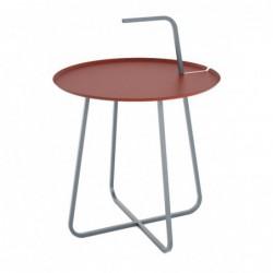 RADIUS Z RĄCZKĄ III stalowy stolik kawowy pomocnik