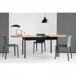BOX OVAL ROZKŁADANY stół w stylu bauhaus polski design