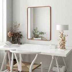 BILLET miedziane lustro z zaokrąglonymi rogami w stylu skandynawskim