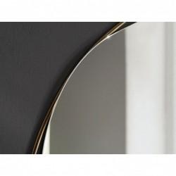 RING LAPIS lustro nieregularne w mosiężnej ramie w stylu mid-century