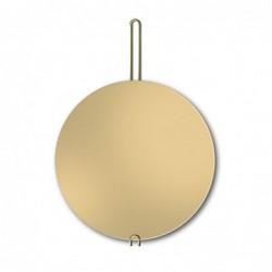 HOKO złote lustro wiszące na mosiężnym zawiesiu
