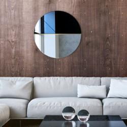 DEMI okrągłe, dwukolorowe lustro ozdobne