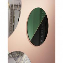 DEMI COLOR okrągłe, dwukolorowe lustro ozdobne