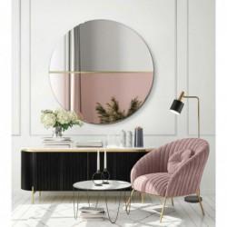 DEMI MIEDZIANE (ROSE GOLD) / ZŁOTE okrągłe, dwukolorowe lustro ozdobne