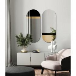 FUSION owalne lustro w stylu bauhaus, polski design